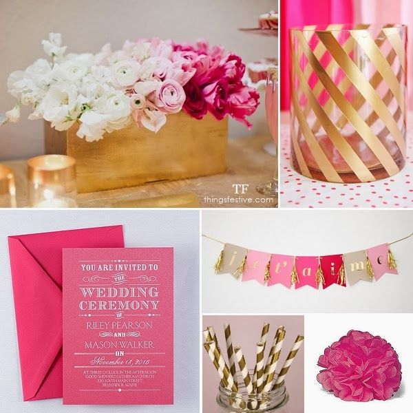 Fuchsia White Gold Wedding Bells Pinterest Themes And