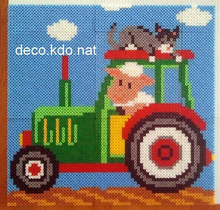 Farm Animals 3/3 hama perler beads by deco.kdo.nat