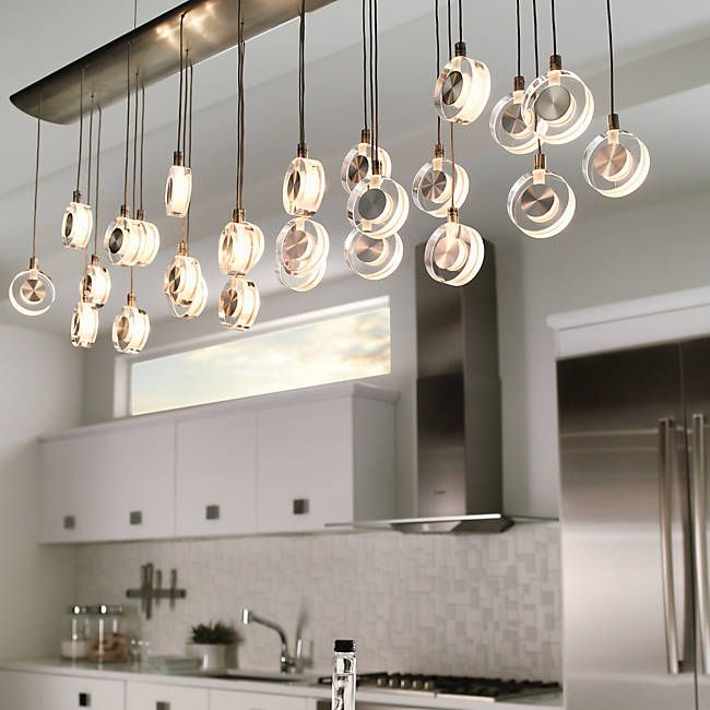 Bling Linear Suspension Kitchen Lighting DesignKitchen Island LightingDining Room
