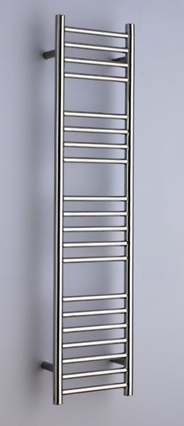 Alpine towel warmer in bushed stainless steel 30cm x125cm