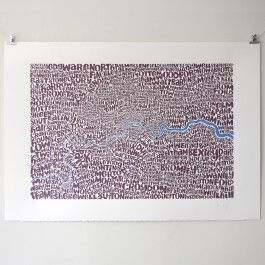 Greater London Type Map Print available to buy from www.everythingbegins.com