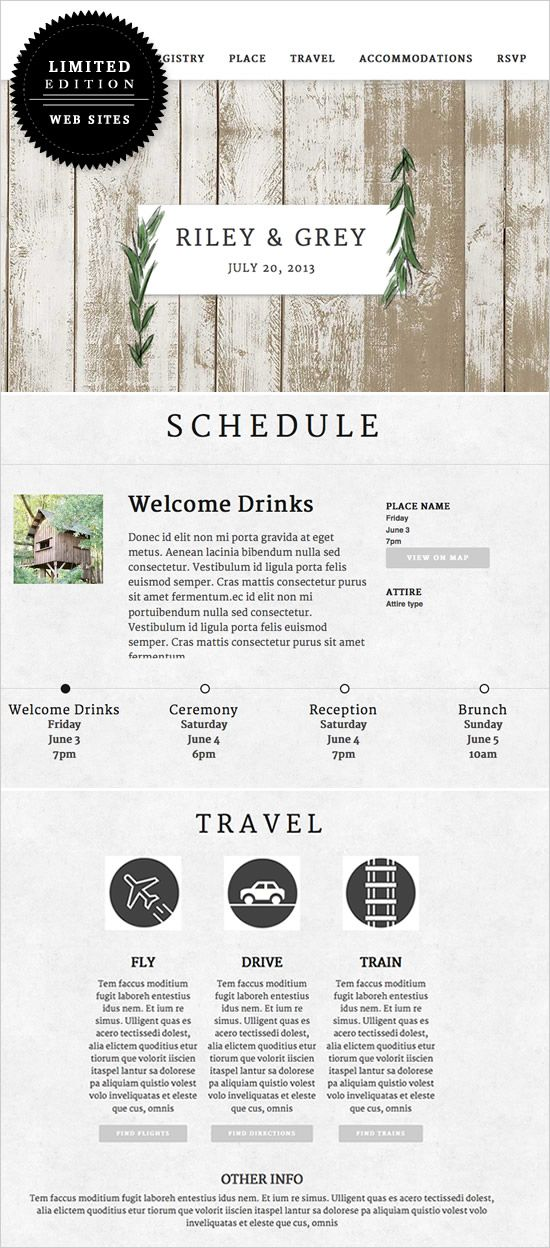 Riley and Grey Wedding Websites #weddingwebsite #bride #weddingchicks http://www.weddingchicks.com/2014/01/23/luxe-wedding-websites-riley-grey