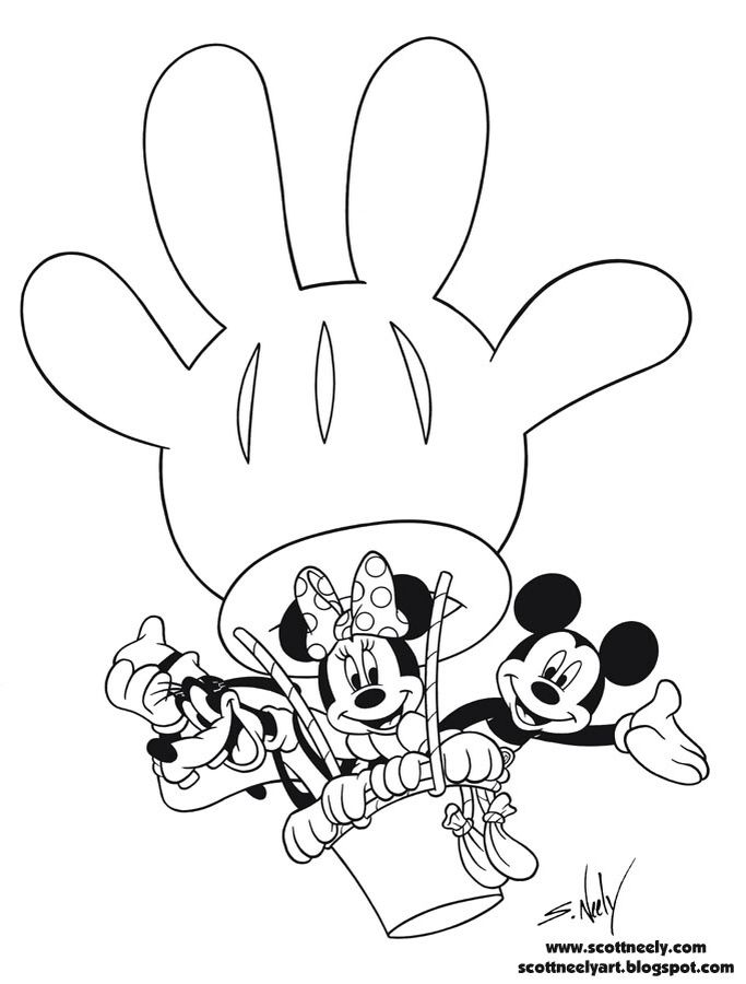 21 best Mickey Printables images on Pinterest   Coloring pages, Kids ...