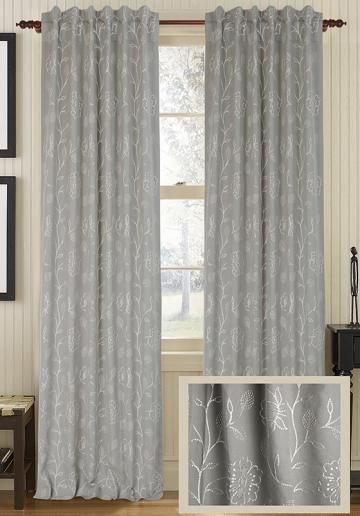 Emma Curtain Panel - Draperies & Tiebacks - Window Treatments - Linens & Fabrics | HomeDecorators.com