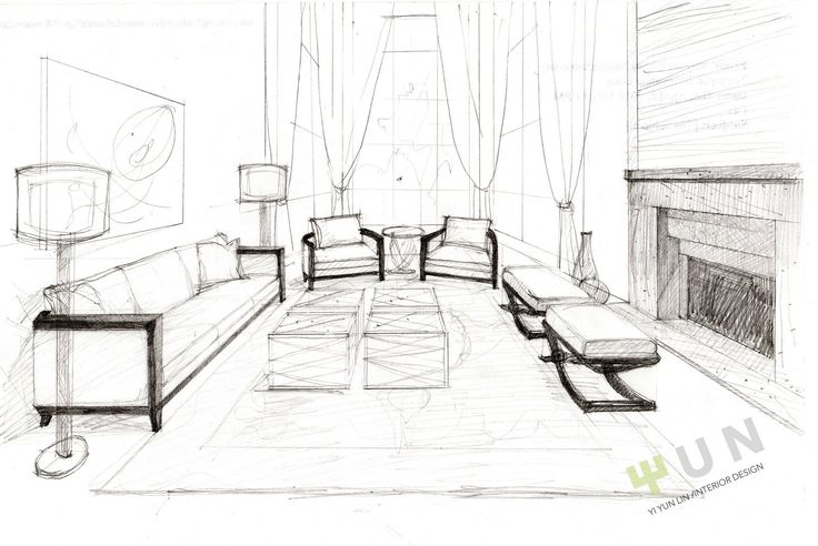 fantasia sweet water project interior design living room sketch