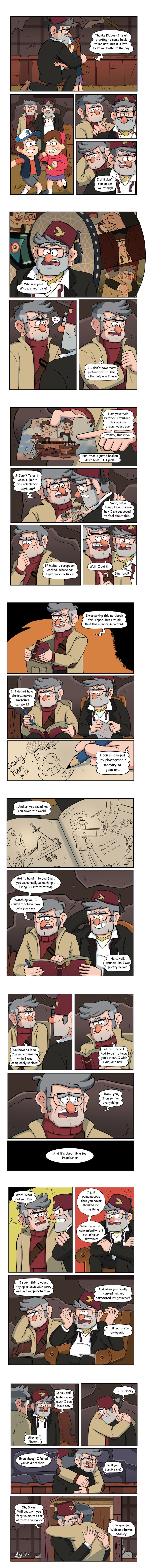 Memories  Finally finished the comic! When Stan can't remember Ford, Ford is forced to get creative. Sometimes, a little gratitude goes a long way.