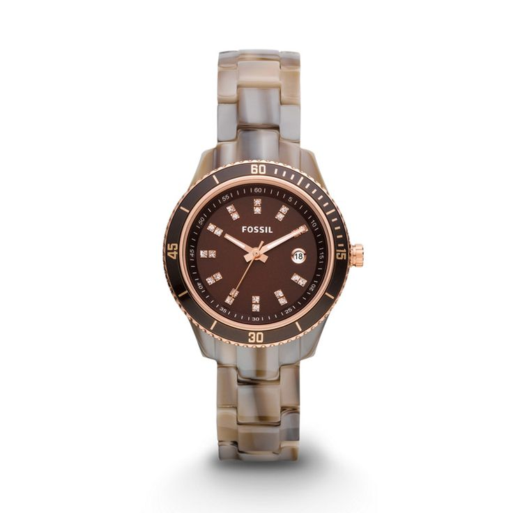 Fossil Stella Mini Three Hand Resin Watch - Alpine Horn ES3094 | FOSSIL®