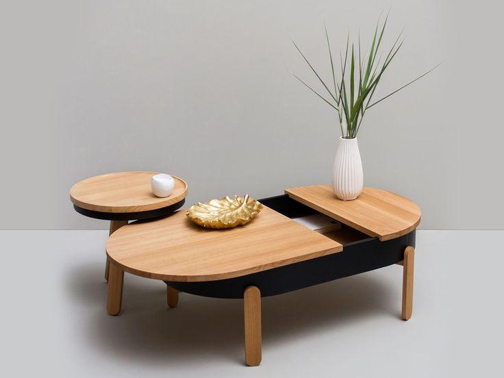 table basse grise avec rangement. Black Bedroom Furniture Sets. Home Design Ideas