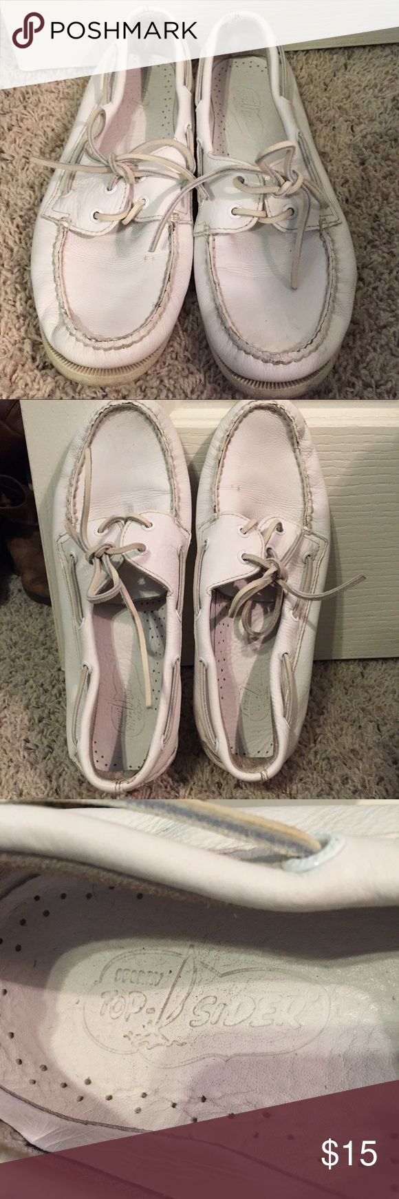 Sperry Top Siders White Sperry Top Siders! Men's size 11M. Could benefit from a cleaning, but in good shape. Make an offer! Sperry Top-Sider Shoes Boat Shoes
