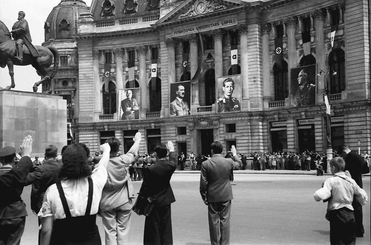 Bucuresti, 21 iunie 1941 . Ducele, Fuhrerul, Regele si Maresalul .