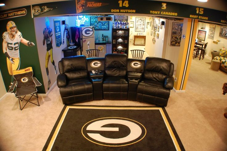 My Packers Man Cave aka The Drew Cave aka Packer Heaven