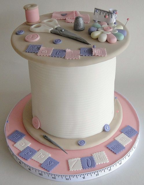 Spool of thread cake, would change the colors, but really neat!