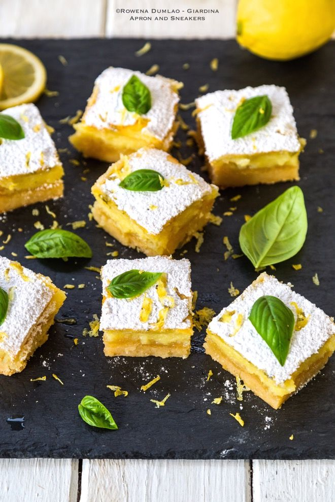 Apron and Sneakers - Cooking & Traveling in Italy and Beyond: Lemon Basil Bars