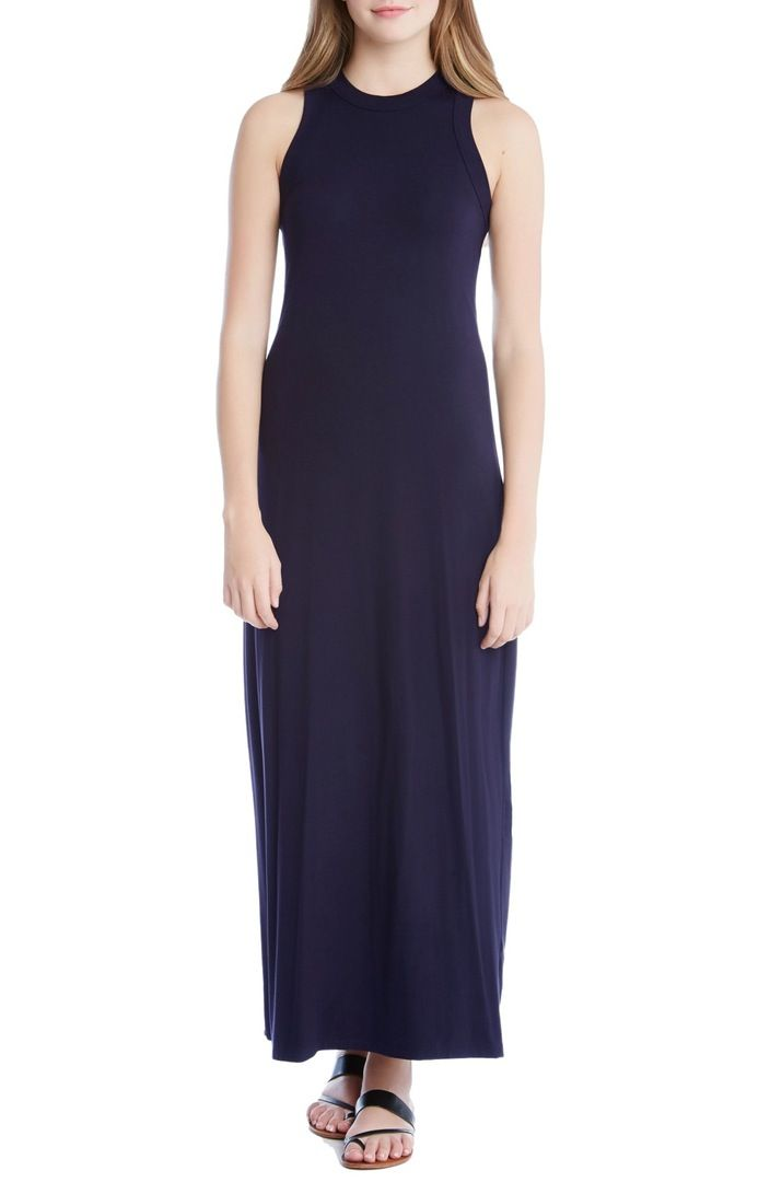 Main Image - Karen Kane High Neck Maxi Dress
