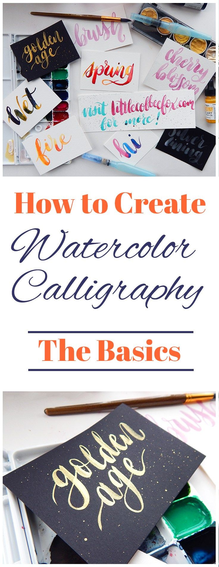 There is no happier marriage than watercolors and brush lettering. The wonderful world of watercolor calligraphy has a huge range of possibilities, and the sky is the limit on what you can create. It's fun, creative, and elegant. Plus it's easy once you get a grasp on the basics!