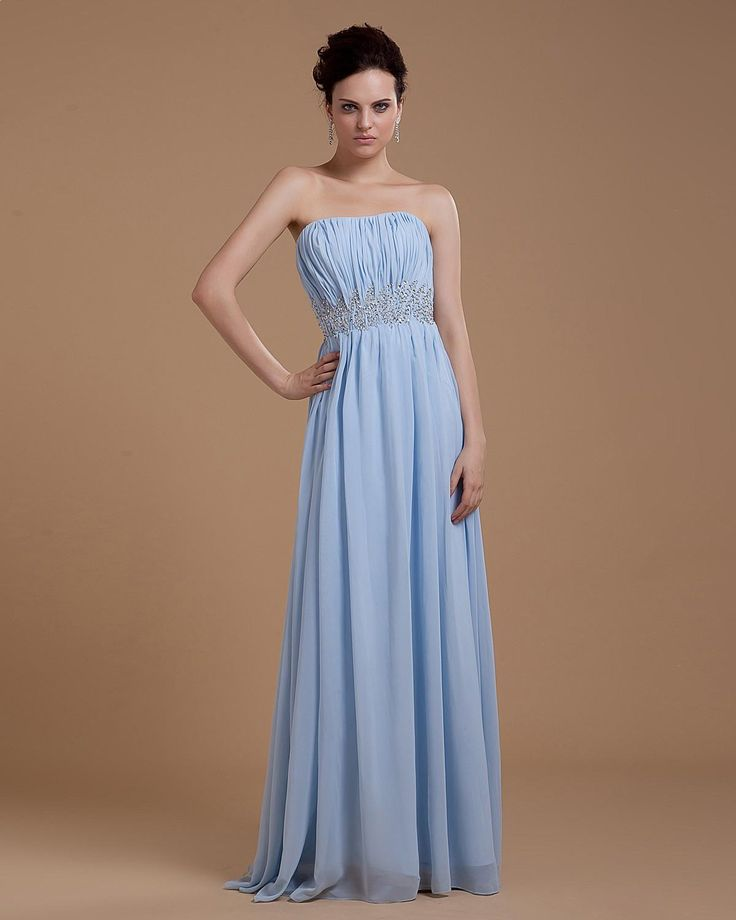 Chiffon Beading waistline Floor Length Evening Dress  Read More:     http://www.weddingsred.com/index.php?r=chiffon-beading-waistline-floor-length-evening-dress.html