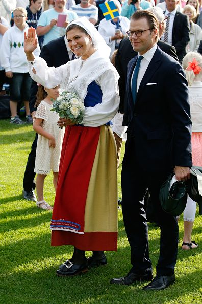 Crown Princess Victoria of Sweden and Prince Daniel of Sweden attend a concert to celebrate her 38th birthday at Borgholm on July 14, 2015 in Oland, Sweden.