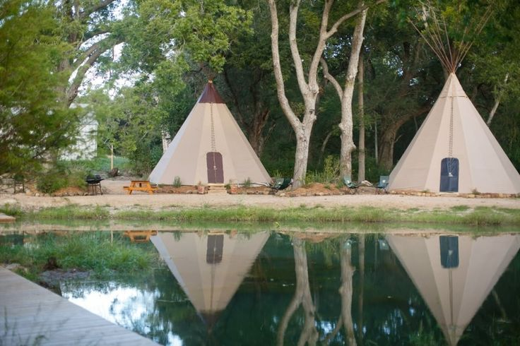 New Braunfels Bungalow Rental: Unbelievable Tipis! Heated/ac, Insulated - Sleeps Up To 6 Unit #1 | HomeAway
