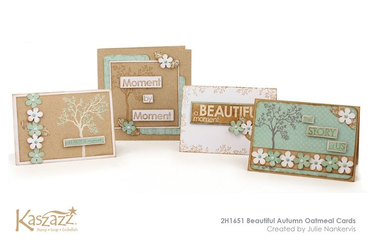 2H1651 Beautiful Autumn Oatmeal Cards