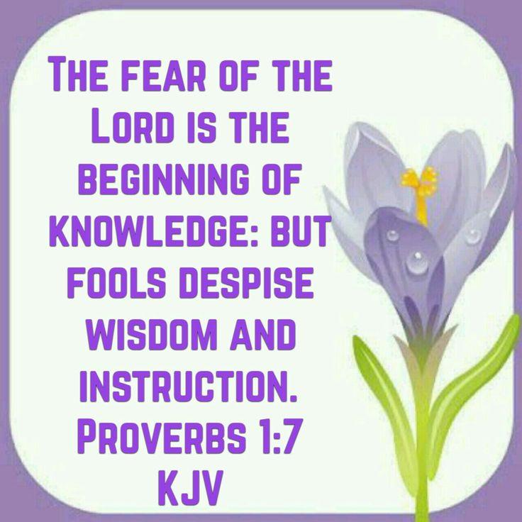 Proverbs 1:7 (KJV)
