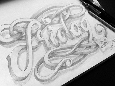 Friday Type 4 - marceloschultz.com  by Marcelo Schultz: Letters Fonts, Illustration, Hands Letters, Celebrity Friday, Friday Types, Friday Marceloschultz