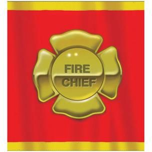 1104 - Firefighter Plastic Tableclover Firefighter Tablecover. Plastic (135cm x 270cm)