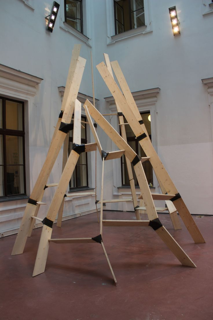 Architecture Challenge at Die Angewandte, Vienna. Installation out of plywood and polymer concrete