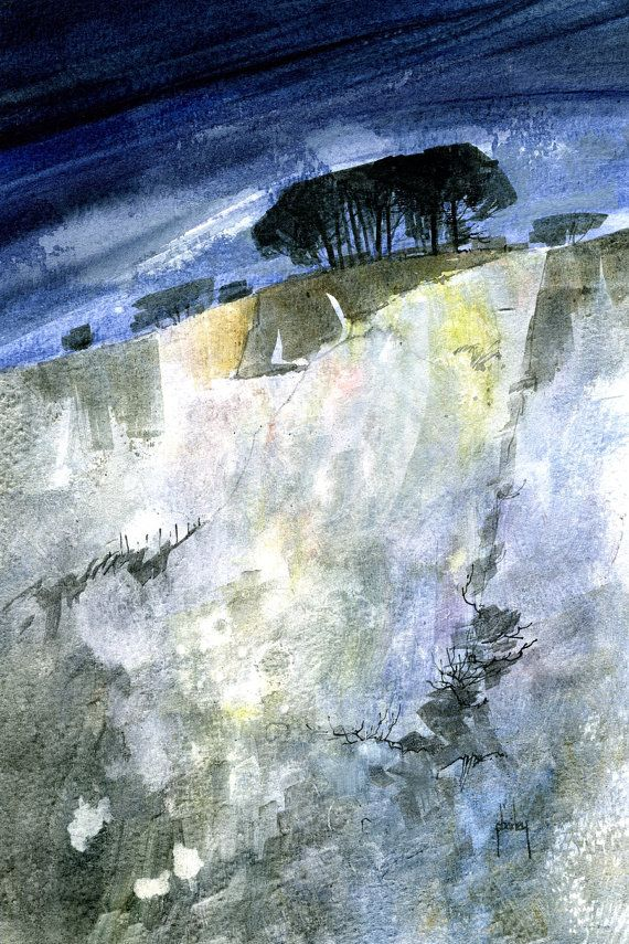 "Paul Bailey, ""Steep Approach,"" Watercolor"