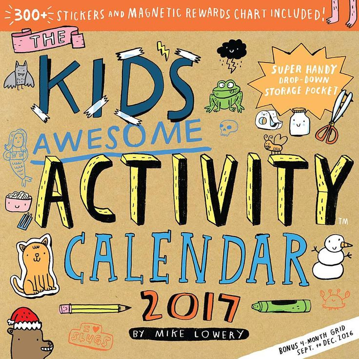 An interactive calendar for kids that celebrates the creativity and pure joy of DIY