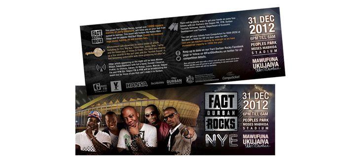 Fact Durban Rocks: Graphic Design by Electrik Design Agency www.electrik.co.za/