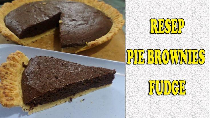 Brownies pie video recipe.