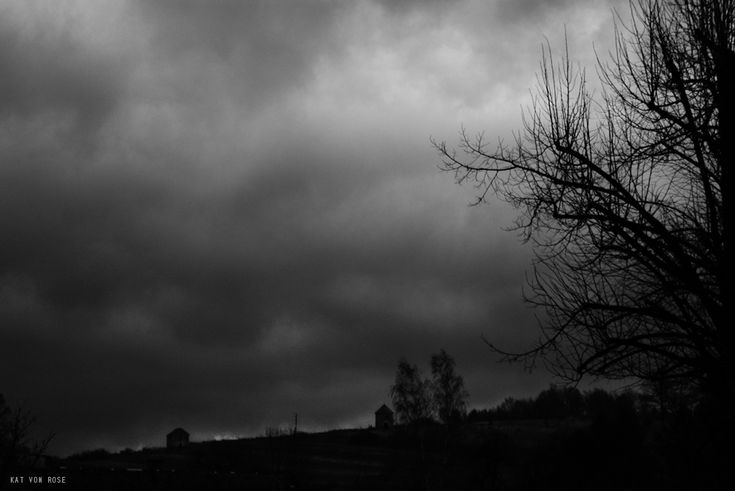#darkness #bw #blackandwhite #clouds #dark #empty #grounge #inspired #katvonrose #kat-von-rose.blogspot.com #landscape #mystery #nature #noir #photography #places  #KatvonRose #blacknwhite