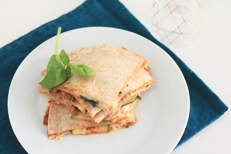 Quesadilla's met courgette; 5 OR LESS