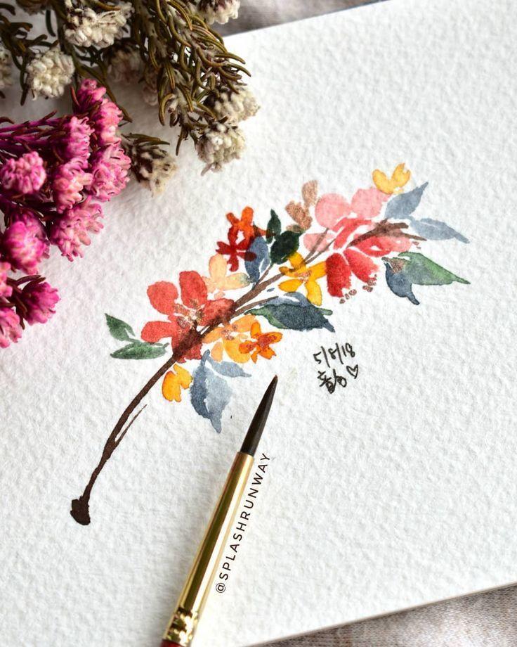 TGIF Florals! Experimentiert mit einer neuen Farbkombination .. was denkst du? ,,,,,, #Aquare…