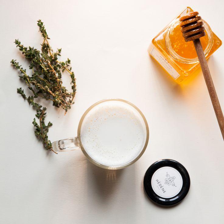 Vivez un instant détox chic et gourmand avec un bon lait chaud au miel de tilleul de Picardie Hédène!