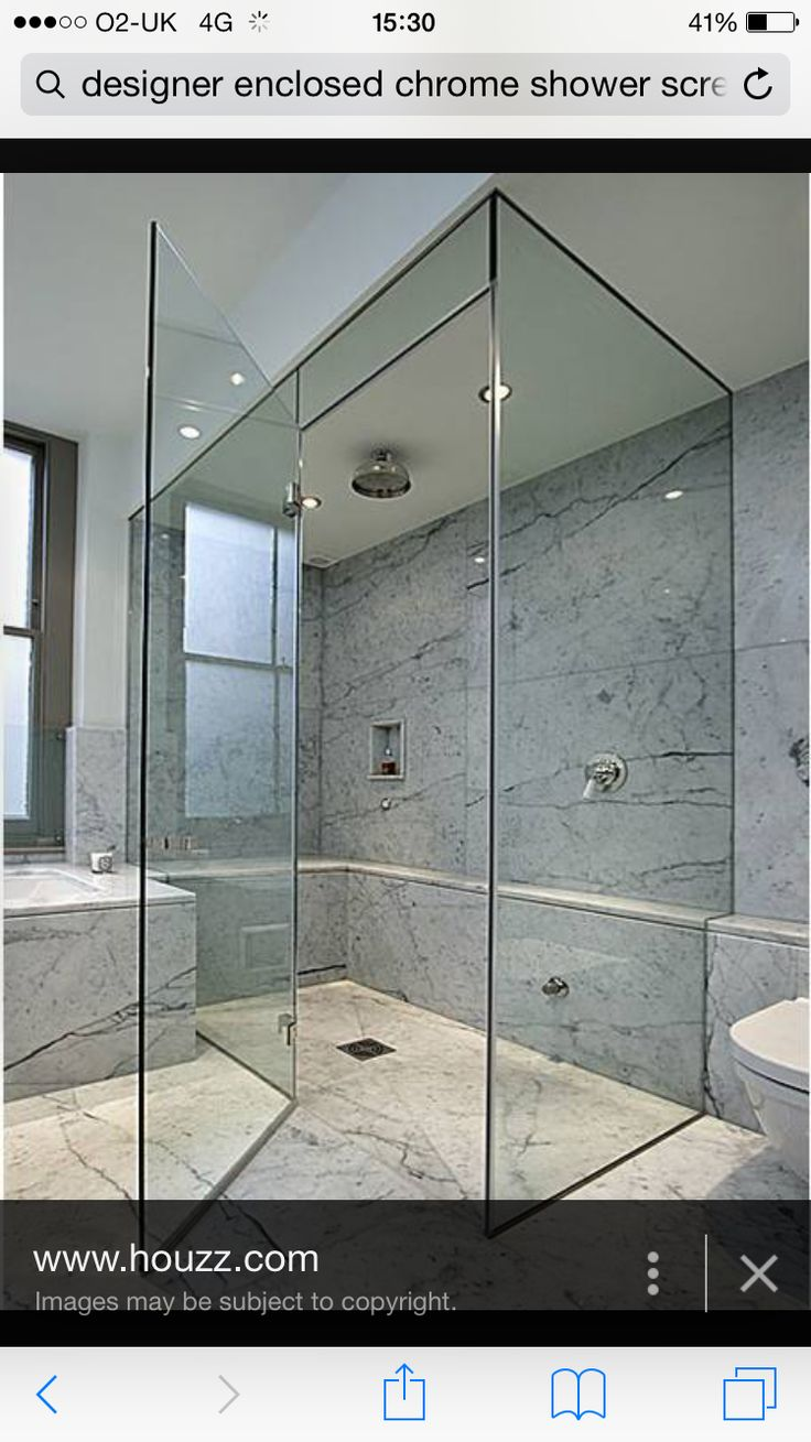 Warm Tile Showers With Sliding Glass Doors