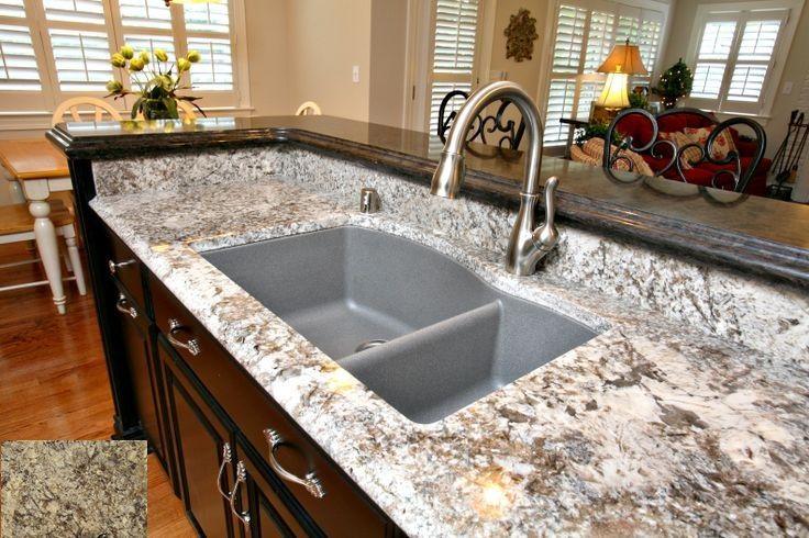 Amazing Pergaminho Granite With Granite Composite Sink