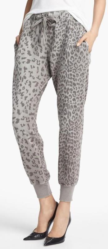 Current/Elliott Animal Print Sweatpants