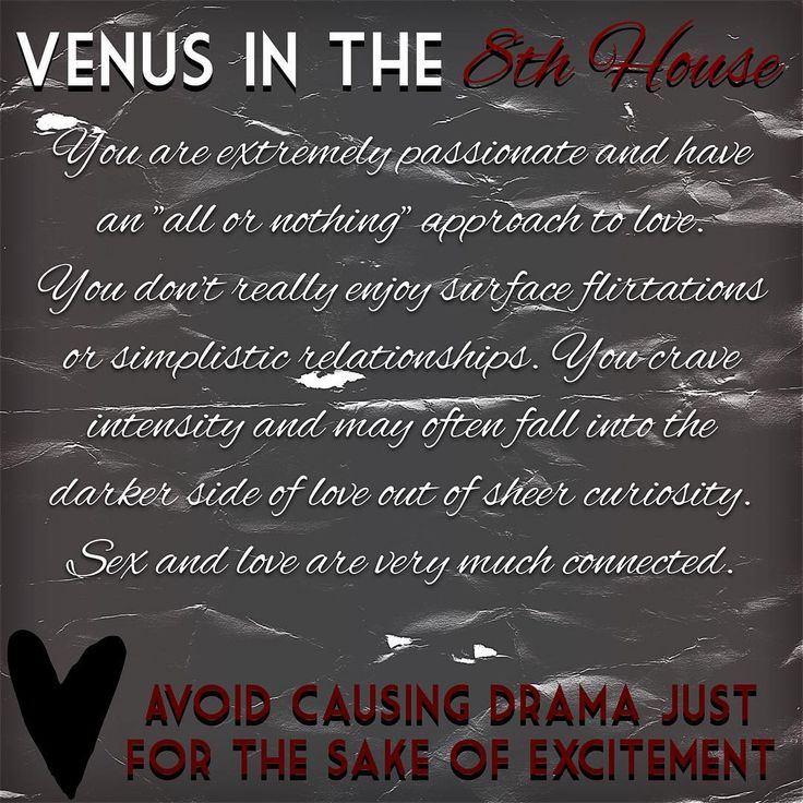 Venus in the 8th house Astrology House 8SEX DEATH and