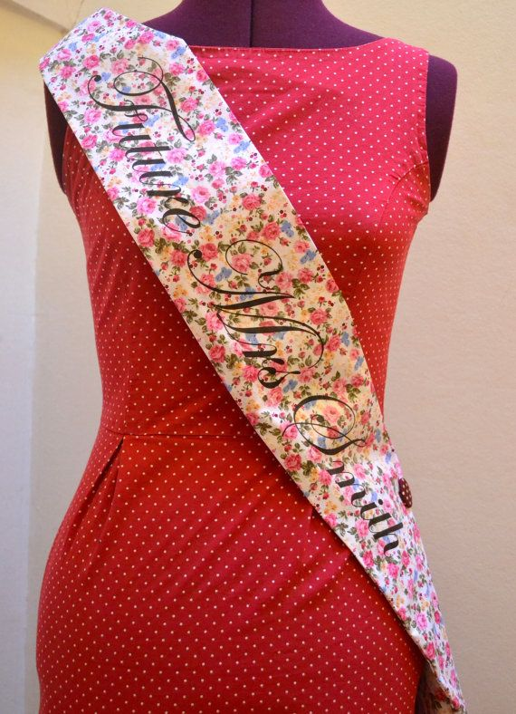 Vintage Style Hen Party Sash Classy Alternative by ohsquirrelshop