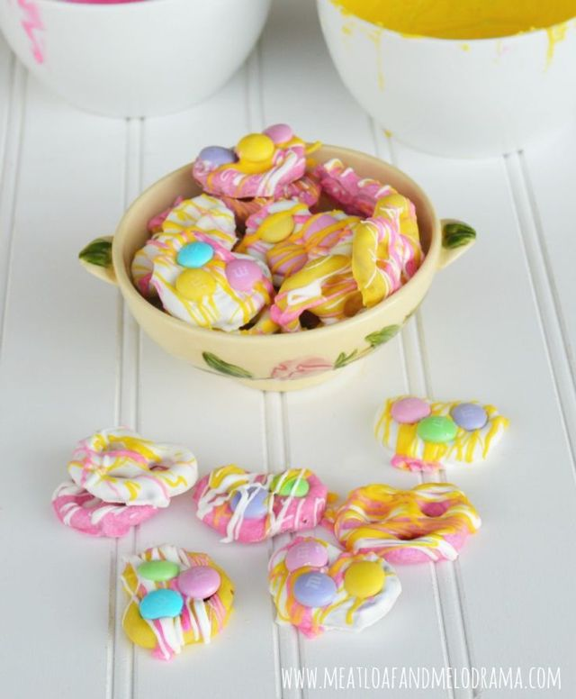 candy coated pretzels for spring