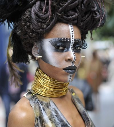 A finalist's design for the IMATS London 2011 Beauty/Fantasy Student Competition. Photo by Nick Wall