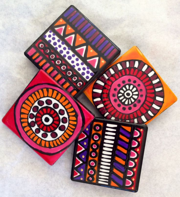 Ceramic tile fridge magnets www.jocelynproustdesigns.com.au