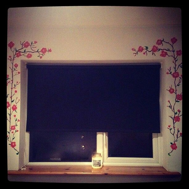 My handpainted window bloosoms