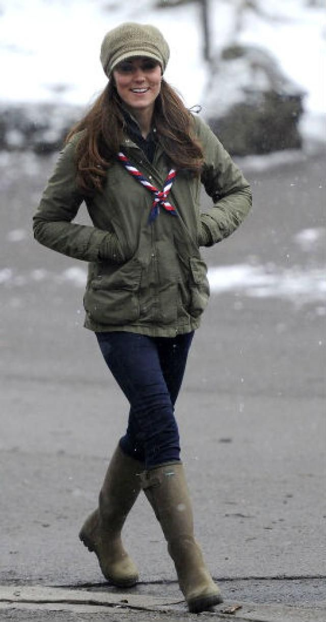 Kate Middleton Style Moments to Copy: Army Parka and Skinny Jeans