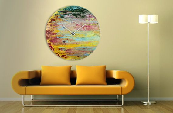 Modern,Wall sculpture,Glass, Wall Art,Oversized Wall clock,Extra Large…