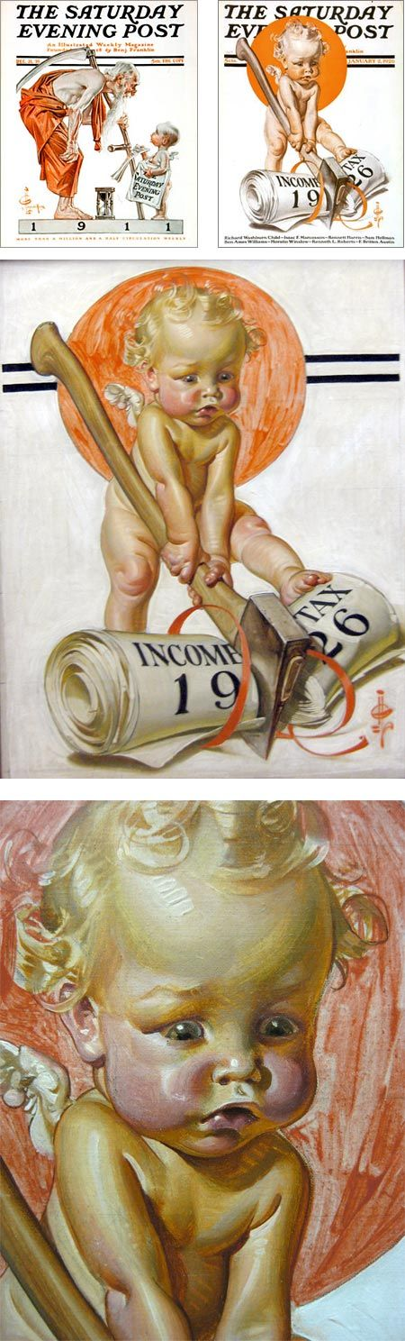 New Year's babies from J.C. Leyendecker