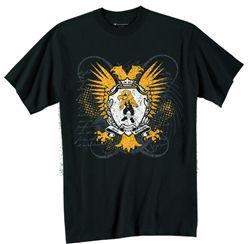 Iowa Hawkeyes Wrestling T-Shirt (Black) - Herky Hawkeye Logo
