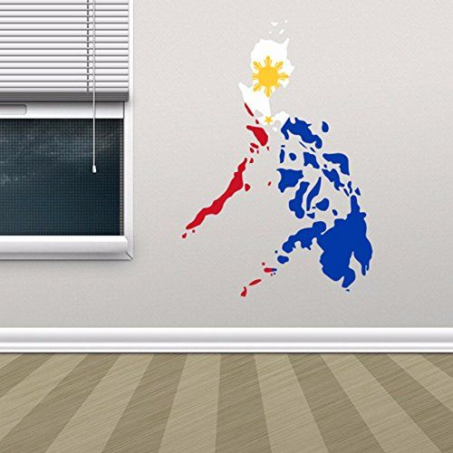 Philippine Flag Map of Philippines Wall Vinyl Sticker Custom Home Decoration Wall Sticker Wedding Decoration PVC Wallpaper Fashion Design * You can get more details by clicking on the image.