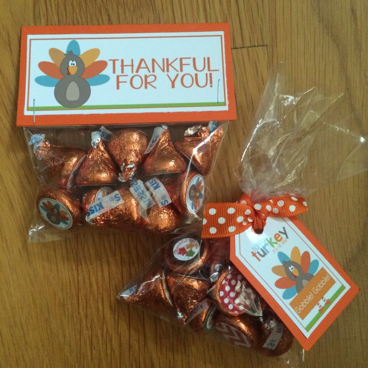 Thanksgiving Hershey Kiss Party Favors